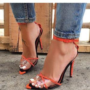 🆕️//Hot girl Summer// Neon orange heel